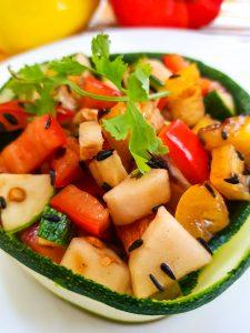 Bell Pepper Zucchini Salad Image