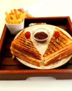 Vegetable Club Sandwich Image